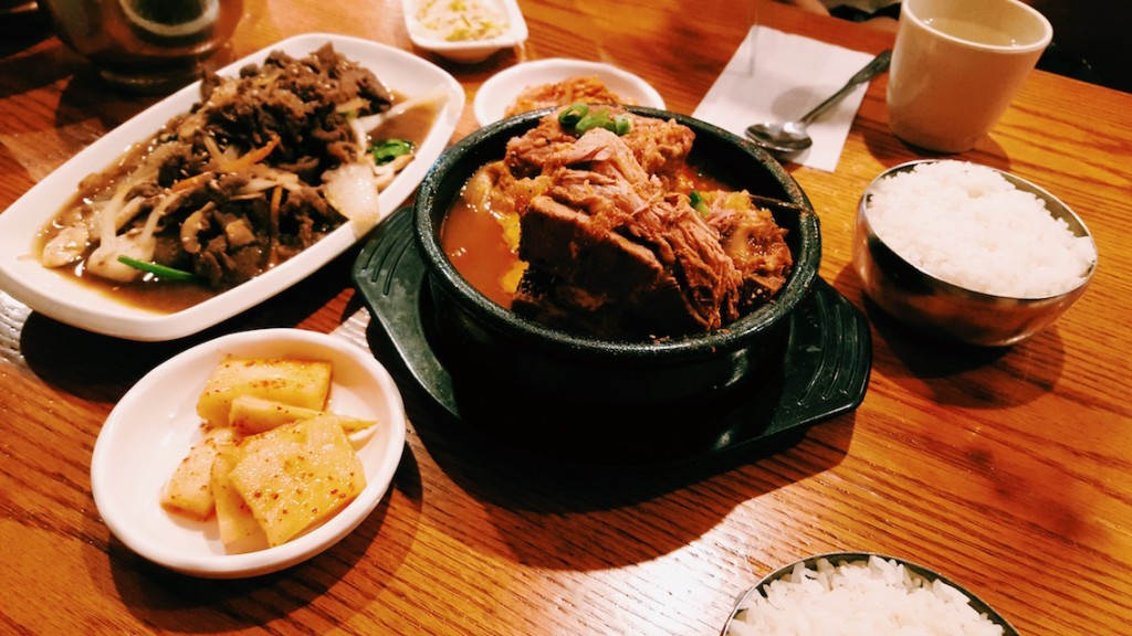 Bulgogi and Pork bones soup
