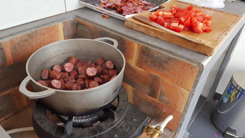 Rougail saucisses - cuisine