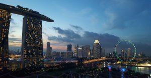Singapour singapore skyline view marinabay sands
