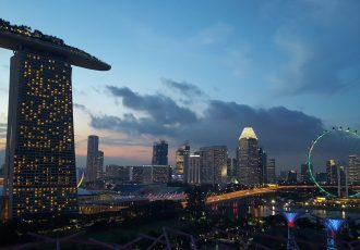 Singapour singapore skyline view marinabay sands